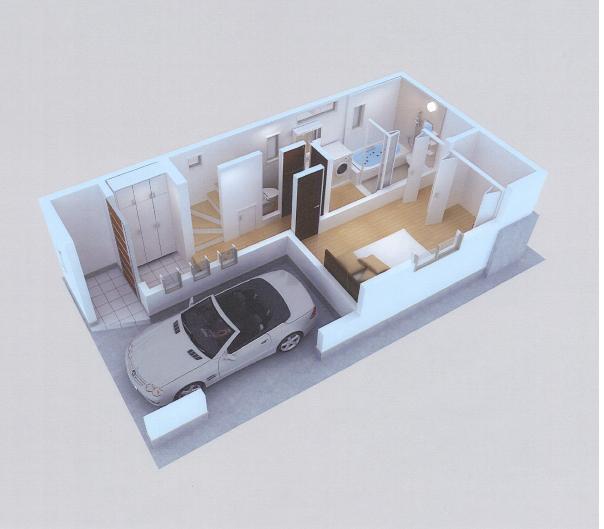 東雪谷プロジェクト CG模型1階.jpg