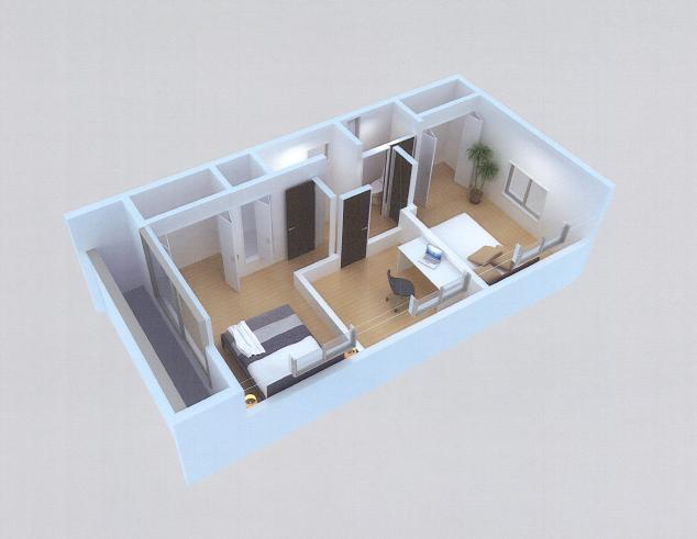 東雪谷プロジェクト CG模型3階.jpg