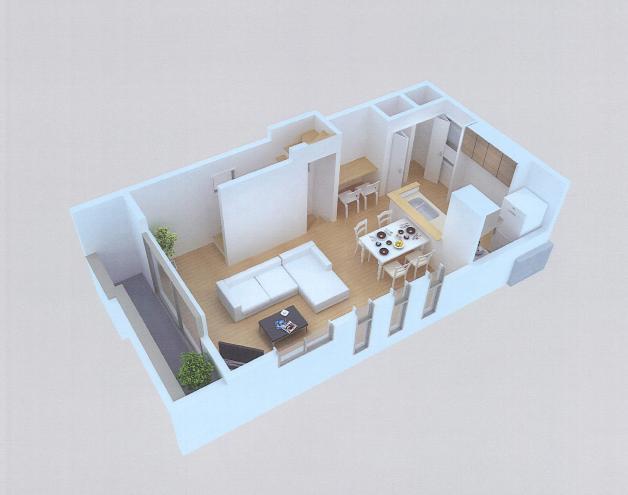 東雪谷プロジェクト CG模型2階.jpg
